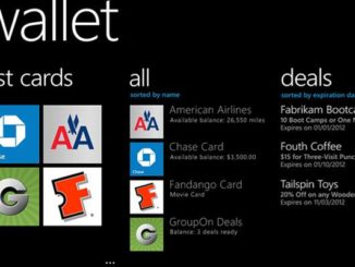 c Microsoft Windows Phone  Wallet Card