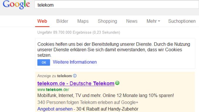 Google Offer Telekom