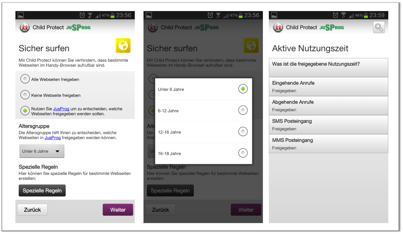 Vodafone Child Protect - Screenshots