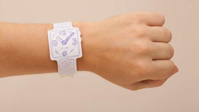 smartwatch papier