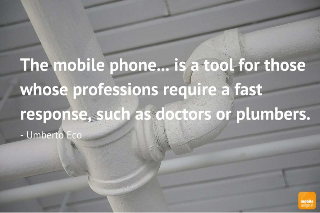 mobile phone only for plumbers