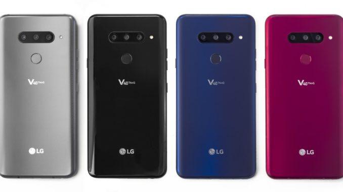 Das Penta-Kamera-Smartphone LG-V40-ThinQ glänzt mit 5-Fach Kamera.