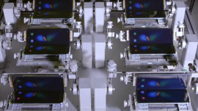 Um die Stabilität des Samsung Galaxy Fold zu gewährleisten, macht Samsung einen intensiven Falt-Test.